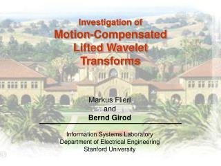 Investigation of Motion-Compensated  Lifted Wavelet  Transforms