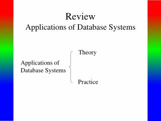 Review Applications of Database Systems