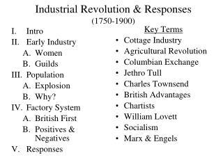 Industrial Revolution  Responses  1750-1900
