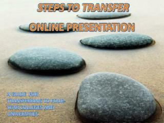 STEPS TO TRANSFER ONLINE PRESENTATION