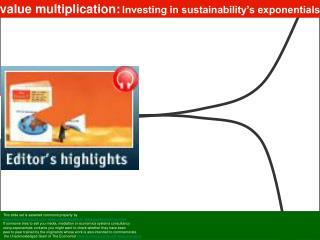 value multiplication: Investing in sustainability's exponentials