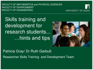 Skills training and development for research students... 	…hints and tips