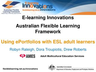 E-learning Innovations Australian Flexible Learning Framework