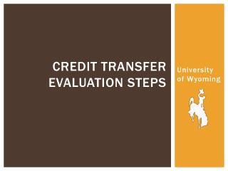 Credit Transfer Evaluation Steps