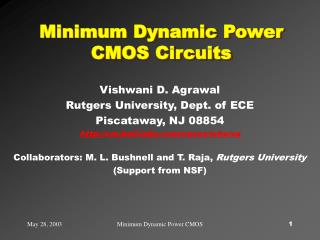 Minimum Dynamic Power CMOS Circuits