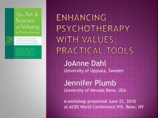 Enhancing Psychotherapy with Values: practical tools