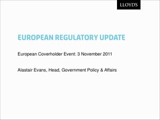 European ReguLATORY Update