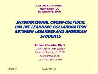 ALN 2000 Conference Washington, DC November 4, 2000