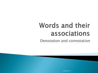 Words and their associations