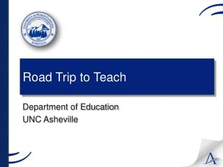 Road Trip to Teach