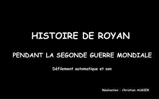HISTOIRE DE ROYAN