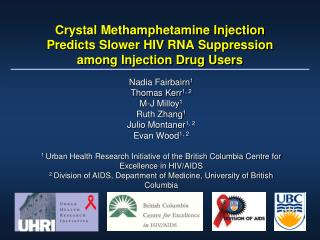 Crystal Methamphetamine Injection Predicts Slower HIV RNA Suppression among Injection Drug Users