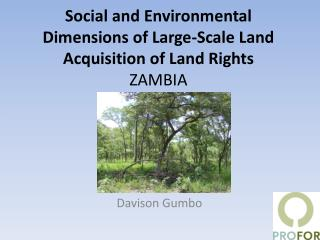 Social and Environmental Dimensions of Large-Scale Land Acquisition of Land Rights ZAMBIA