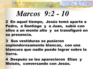Marcos 9:2  -  10