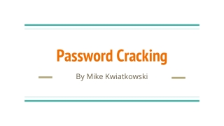 Encryption and Password Cracking Tools