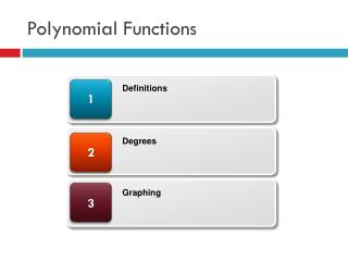 Polynomial Functions