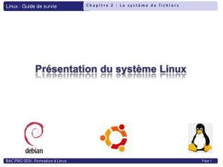 Pr�sentation du syst�me Linux