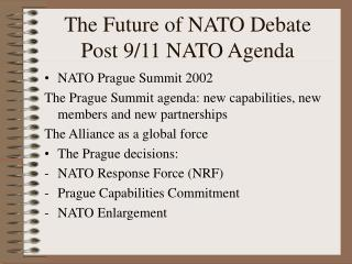The Future of NATO Debate Post 9/11 NATO Agenda