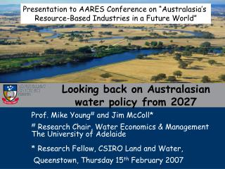 Looking back on Australasian water policy from 2027
