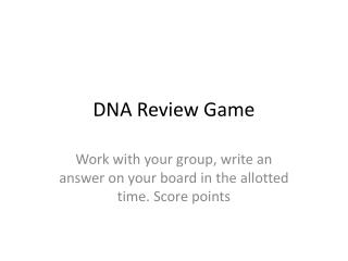 DNA Review Game