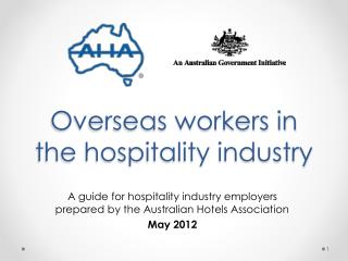 Overseas workers in the hospitality industry