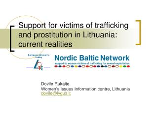Support for victims of trafficking and prostitution in Lithuania: current realities