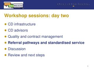 Workshop sessions: day two