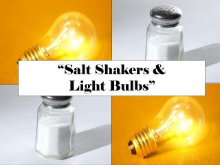 """Salt Shakers &  Light Bulbs"""