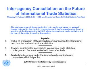 Revision of recommendations for International Merchandise Trade Statistics Activities in 2007-2008