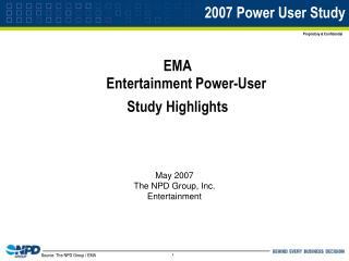 2007 Power User Study