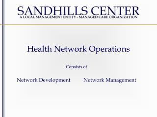 Health Network Operations