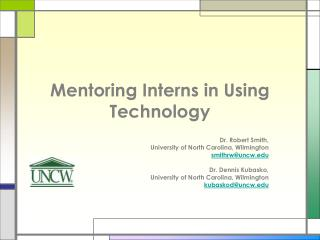 Mentoring Interns in Using Technology