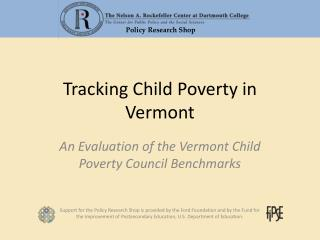 Tracking Child Poverty in Vermont