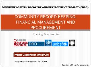 COMMUNITY RECORD-KEEPING, FINANCIAL MANAGEMENT AND PROCUREMENT