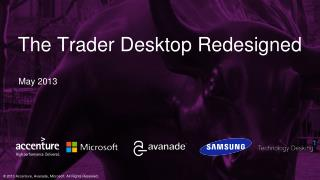The Trader Desktop Redesigned