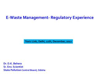 Toxic Link, Delhi, 11th, December, 2012