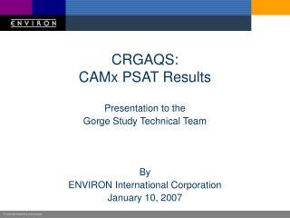CRGAQS: CAMx PSAT Results