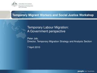 Temporary Migrant Workers and Social Justice Workshop
