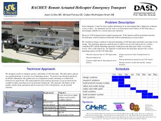RACHET: Remote Actuated Helicopter Emergency Transport