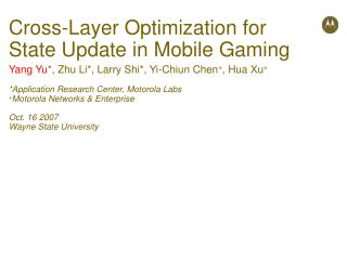 Cross-Layer Optimization for State Update in Mobile Gaming