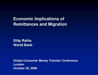 Development implications of migration and remittances