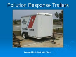 Pollution Response Trailers
