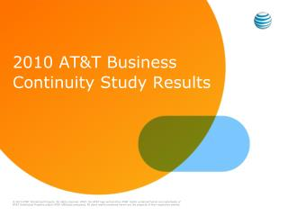 2010 AT&T Business Continuity Study Results