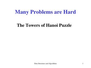 Many Problems are Hard