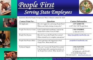 Serving State Employees
