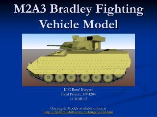 M2A3 Bradley Fighting Vehicle Model