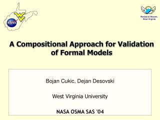 A Compositional Approach for Validation of Formal Models