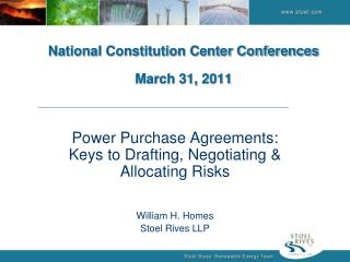 National Constitution Center Conferences March 31, 2011