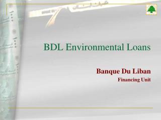 BDL Environmental Loans