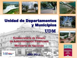 Unidad de Departamentos y Municipios